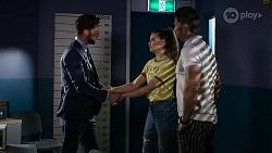 Mark Brennan, Chloe Brennan, Pierce Greyson in Neighbours Episode 8326