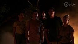 Chloe Brennan, Hendrix Greyson, Pierce Greyson, Kyle Canning, Roxy Willis in Neighbours Episode 8326