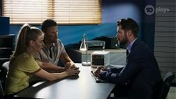 Chloe Brennan, Pierce Greyson, Mark Brennan in Neighbours Episode 8326