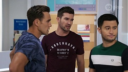 Aaron Brennan, Ned Willis, David Tanaka in Neighbours Episode 8328