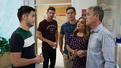 David Tanaka, Ned Willis, Aaron Brennan, Terese Willis, Paul Robinson in Neighbours Episode 8328