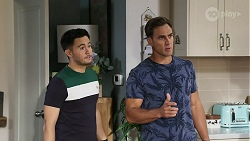 David Tanaka, Aaron Brennan in Neighbours Episode 8328
