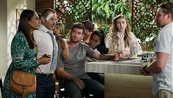 Dipi Rebecchi, Toadie Rebecchi, Ned Willis, Yashvi Rebecchi, Mackenzie Hargreaves, Shane Rebecchi in Neighbours Episode 8333