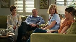 Susan Kennedy, Karl Kennedy, Claudia Watkins, Elly Conway in Neighbours Episode 8334