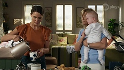 Elly Conway, Claudia Watkins, Aster Conway in Neighbours Episode 8334