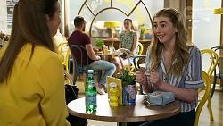 Trish Symington, Mackenzie Hargreaves in Neighbours Episode 8334