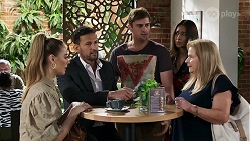 Chloe Brennan, Pierce Greyson, Kyle Canning, Dipi Rebecchi, Sheila Canning in Neighbours Episode 8335