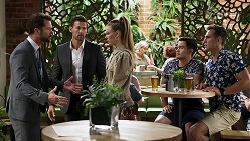 Mark Brennan, Pierce Greyson, Chloe Brennan, David Tanaka, Aaron Brennan in Neighbours Episode 8335
