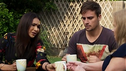 Dipi Rebecchi, Kyle Canning, Sheila Canning in Neighbours Episode 8335