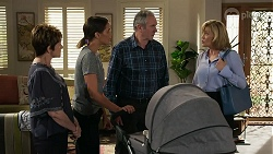 Susan Kennedy, Elly Conway, Karl Kennedy, Claudia Watkins in Neighbours Episode 8336