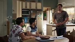 Aaron Brennan, David Tanaka, Kyle Canning in Neighbours Episode 8336