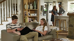 Hendrix Greyson, Harlow Robinson, Terese Willis, Paul Robinson in Neighbours Episode 8336