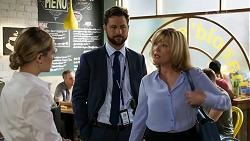 Sky Mangel, Mark Brennan, Claudia Watkins in Neighbours Episode 8336