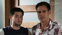 David Tanaka, Aaron Brennan in Neighbours Episode 8336