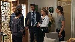 Susan Kennedy, Karl Kennedy, Mark Brennan, Sky Mangel, Elly Conway in Neighbours Episode 8336