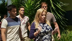 David Tanaka, Aaron Brennan, Kyle Canning, Sheila Canning in Neighbours Episode 8336