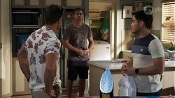 Aaron Brennan, Kyle Canning, David Tanaka in Neighbours Episode 8337