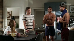 Harlow Robinson, Hendrix Greyson, Pierce Greyson, Mark Brennan in Neighbours Episode 8337