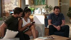 Ned Willis, Yashvi Rebecchi, Shane Rebecchi in Neighbours Episode 8337