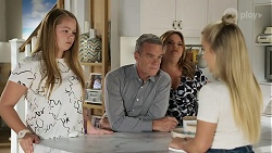 Harlow Robinson, Paul Robinson, Terese Willis, Roxy Willis in Neighbours Episode 8337