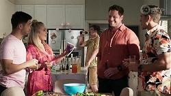 David Tanaka, Roxy Willis, Kyle Canning, Shane Rebecchi, Aaron Brennan in Neighbours Episode 8337