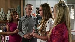 Terese Willis, Paul Robinson, Harlow Robinson, Roxy Willis in Neighbours Episode 8337