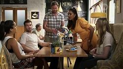 Yashvi Rebecchi, Ned Willis, Shane Rebecchi, Dipi Rebecchi, Mackenzie Hargreaves in Neighbours Episode 8339