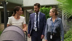 Elly Conway, Mark Brennan, Sky Mangel in Neighbours Episode 8339
