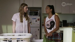 Mackenzie Hargreaves, Yashvi Rebecchi in Neighbours Episode 8339