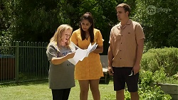 Sheila Canning, Dipi Rebecchi, Kyle Canning in Neighbours Episode 8340