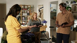 Dipi Rebecchi, Sheila Canning, Kyle Canning in Neighbours Episode 8340