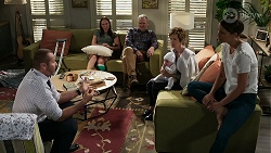 Toadie Rebecchi, Bea Nilsson, Karl Kennedy, Aster Conway, Susan Kennedy, Elly Conway in Neighbours Episode 8340