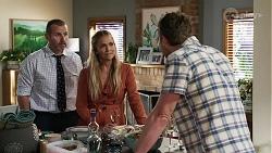 Toadie Rebecchi, Sky Mangel, Shane Rebecchi in Neighbours Episode 8340