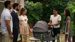 Pierce Greyson, Mark Brennan, Chloe Brennan, Elly Conway, Bea Nilsson in Neighbours Episode 8340
