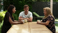 Dipi Rebecchi, Kyle Canning, Sheila Canning in Neighbours Episode 8340