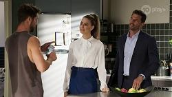 Mark Brennan, Chloe Brennan, Pierce Greyson in Neighbours Episode 8340