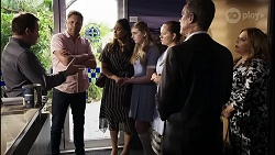 Dax Braddock, Shane Rebecchi, Dipi Rebecchi, Mackenzie Hargreaves, Harlow Robinson, Paul Robinson, Terese Willis in Neighbours Episode 8342