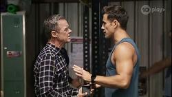 Paul Robinson, Aaron Brennan in Neighbours Episode 8343