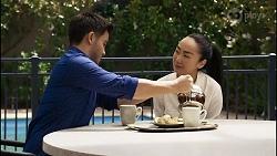 David Tanaka, Leila Potts in Neighbours Episode 8343