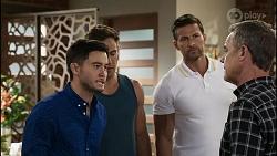 David Tanaka, Aaron Brennan, Pierce Greyson, Paul Robinson in Neighbours Episode 8343