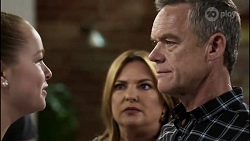 Harlow Robinson, Terese Willis, Paul Robinson in Neighbours Episode 8343