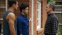 Aaron Brennan, David Tanaka, Paul Robinson in Neighbours Episode 8344