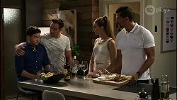 David Tanaka, Aaron Brennan, Chloe Brennan, Pierce Greyson in Neighbours Episode 8344