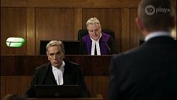 Tipstaff Freddy Poljack, Judge Joseph Vagg, Toadie Rebecchi in Neighbours Episode 8345