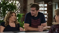 Terese Willis, Kyle Canning, Sheila Canning in Neighbours Episode 8345