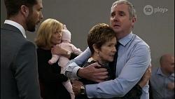 Mark Brennan, Claudia Watkins, Aster Conway, Susan Kennedy, Karl Kennedy in Neighbours Episode 8345