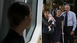 Elly Conway, Chloe Brennan, Susan Kennedy, Aster Conway, Mark Brennan, Bea Nilsson, Claudia Watkins, Karl Kennedy in Neighbours Episode 8345
