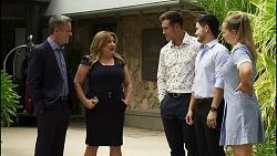 Paul Robinson, Terese Willis, Aaron Brennan, David Tanaka, Harlow Robinson in Neighbours Episode 8346