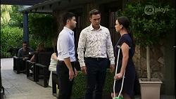 David Tanaka, Aaron Brennan, Bea Nilsson in Neighbours Episode 8346