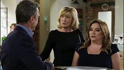 Paul Robinson, Claudia Watkins, Terese Willis in Neighbours Episode 8346
